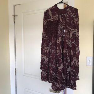Never worn Free People Print Dress Size Medium